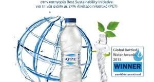Διεθνής διάκριση για το Φυσικό Μεταλλικό Νερό ΑΥΡΑ στα Global Bottled Water Awards 2015