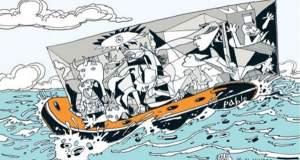 Μετέωρο Βήμα: Μια έκθεση σκίτσων για το προσφυγικό στο Μετρό Συντάγματος