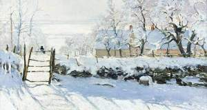 Σαν τα χιόνια... στον  καμβά μεγάλων ζωγράφων!