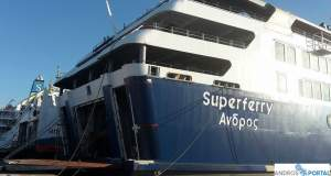 Στο λιμάνι της Τήνου προσέκρουσε το Fast Ferries Άνδρος