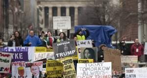 Με πάνω από 200 συλλήψεις διαδηλωτών ξεκίνησε την «καριέρα» του ο Τραμπ