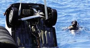 Αυτοκίνητο έπεσε στη θάλασσα του Αλεποχωρίου