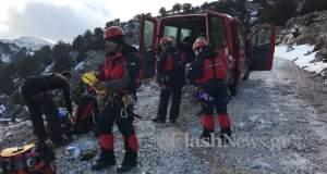 Σε τραγωδία εξελίχθηκε πεζοπορία στα Χανιά: Νεκρή μια γυναίκα που έπεσε σε γκρεμό