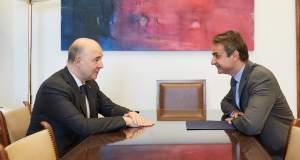 Οικονομία και ευρωπαϊκά θέματα στο επίκεντρο της συνάντησης Μητσοτάκη-Μοσκοβισί