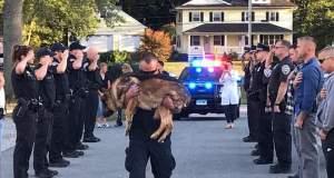 O αποχαιρετισμός των αστυνομικών στον σκύλο συνάδελφό τους που έγινε viral