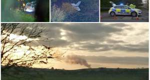 Τέσσερις νεκροί από τη σύγκρουση αεροπλάνου με ελικόπτερο στο Μπάκινχαμ [ΒΙΝΤΕΟ]