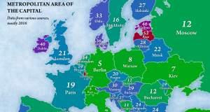 Τι ποσοστό των κατοίκων κάθε χώρας ζει στην πρωτεύουσα; [ΧΑΡΤΗΣ]