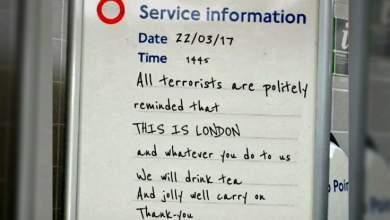 Το ψεύτικο μήνυμα κατά της τρομοκρατίας που όμως εκφράζει όλους τους Βρετανούς