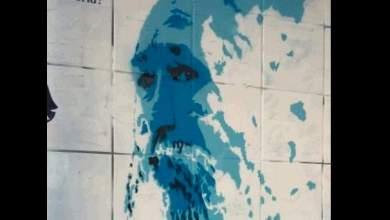 Γκράφιτι με τον Τζίμη Πανούση στο κέντρο της Αθήνας