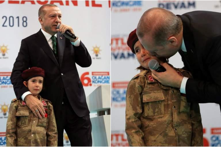Αποτέλεσμα εικόνας για ερντογαν παιδί