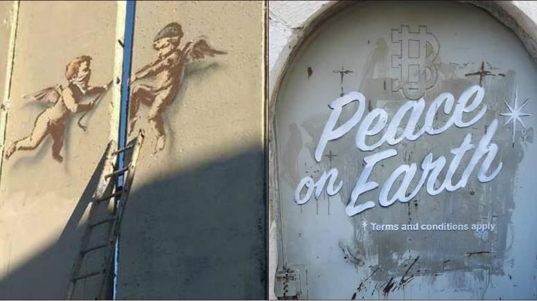 Δύο νέα έργα από τον Bansky στο τείχος της ντροπής